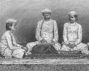 Brahmins of Bengal, from The Great Indian Religions, published by Ward, Lock, Bowden and Co., London, 1892.
