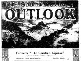 April 1, 1922 issue of The South African Outlook (Lovedale, South Africa), formerly called The Christian Express. From CRL's World