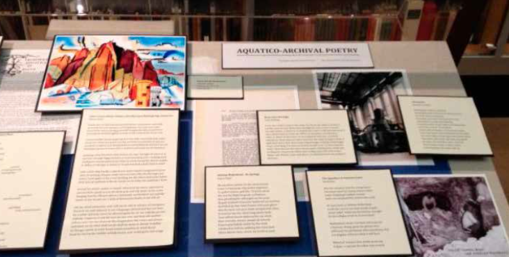 The 2014 UCLA Library Special Collections exhibit on Los Angeles aqueduct-related primary sources featured poetry and art.
