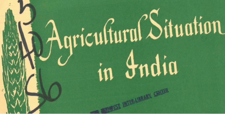 Agricultural Situation in India. Directorate of Economics and Statistics, Ministry of Agriculture. May, 1962.